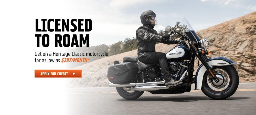 Get on a Heritage Classic motorcycle for as low as $297/month